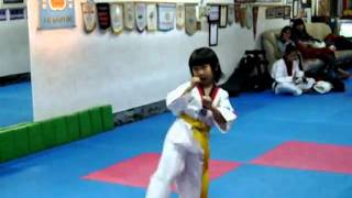 跆拳道-黃帶7級升藍帶6級檢定考練習.AVI