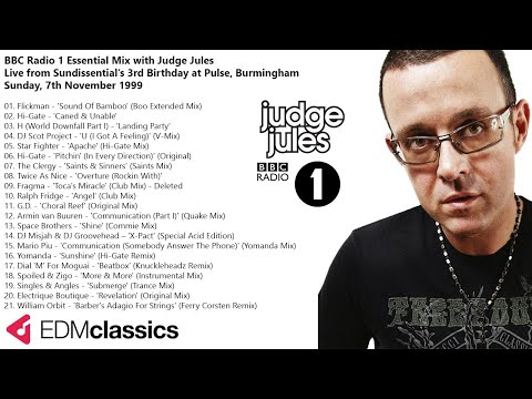 Judge Jules - Radio 1 Essential Mix - Sundissential's 3rd Birthday at Pulse, Birmingham - 7 Nov 1999