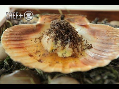 2-Michelin Star Chef Björn Frantzén creates a hand dived scallop recipe