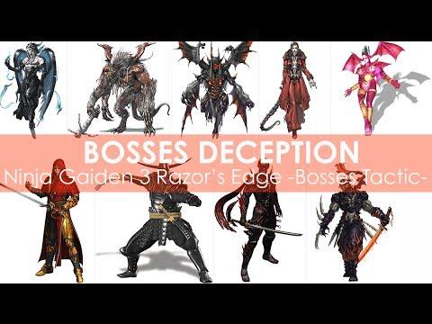 Ninja Gaiden 3 Razor S Edge Bosses Deception Wii U Youtube
