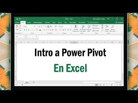Intro a Power Pivot y DAX en Excel