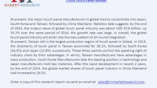 Business Performance of China Touch Panel Industry