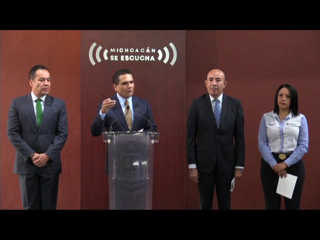 Resumen de la charla semanal con medios - 26 de agosto 2019 - Gobierno de Michoacán