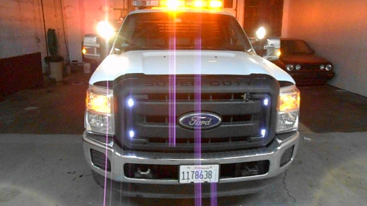 2012 ford f 250 super duty whelen light bar amber leds unity spot lamps youtube