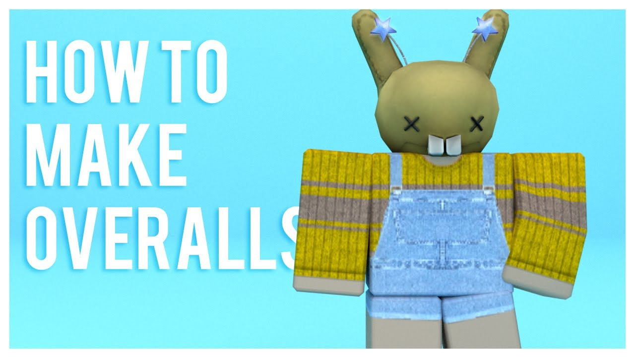 Roblox how to make overalls youtube for How to make a t shirt on roblox