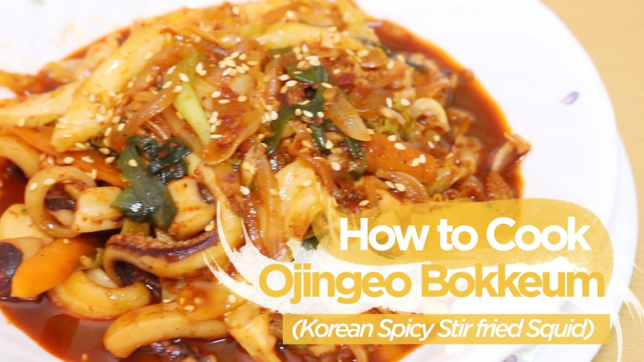 How to Cook 'Ojingeo Bokkeum' (Korean Spicy Stir fried Squid)