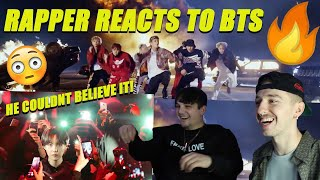 RAPPER REACTS TO BTS FOR THE FIRST TIME! SHADOW & MIC DROP
