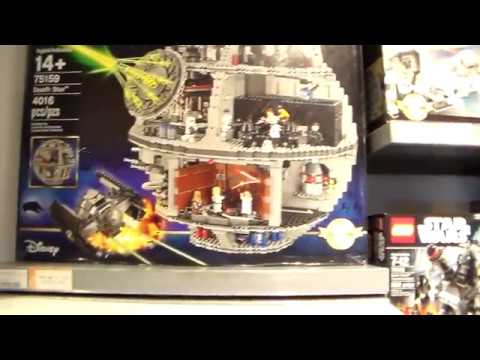 Star Wars Death Star Lego Store Walk Through Disney Springs - YouTube