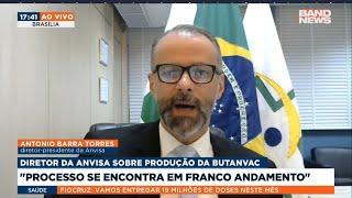DIRETOR DA ANVISA SE POSICIONA SOBRE PRODUÇÃO DA BUTANVAC