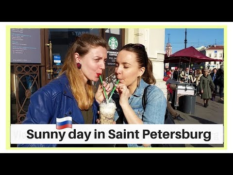 Vlog in Russian 1. A sunny day in St.Petersburg. Sakura and LILKKO shop. Russian CC.