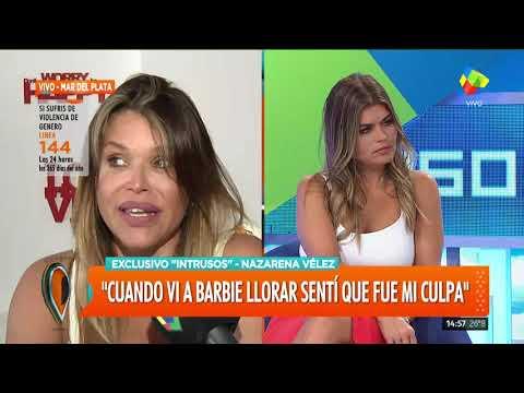 Nazarena Vélez sintió que 'se moría' al ver a su hija Barbie angustiada
