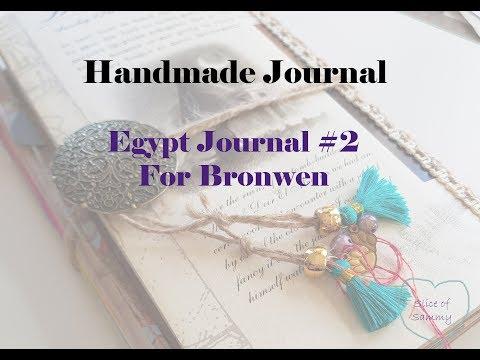 Handmade Journal - Egypt Journal #2, for Bronwen