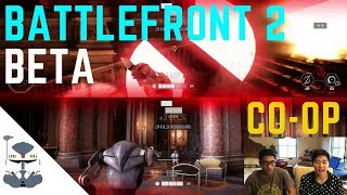 Star Wars Battlefront 2 Beta Splitscreen CO-OP Gameplay! DARTH MAUL!!!