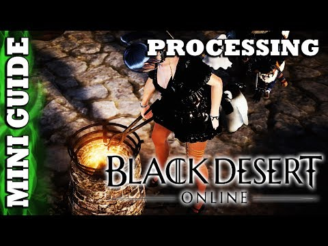 Black Desert Online - Mini Guide - Processing