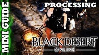 Black Desert Online - Mini Guide - Processing