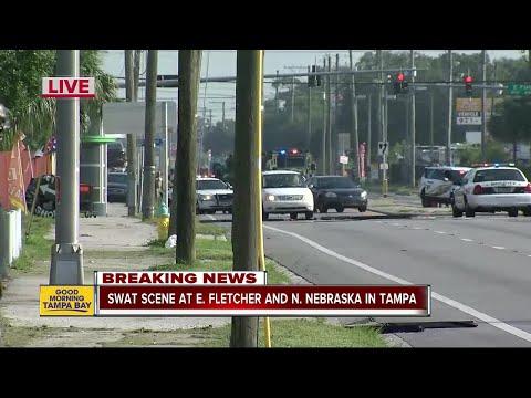 SWAT scene at E. Fletcher and N. Nebraska in Tampa