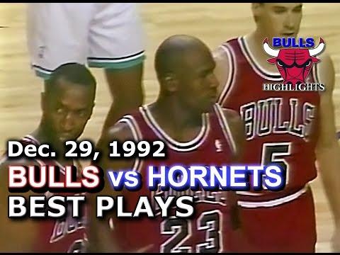 December 29 1992 Bulls vs Hornets highlights