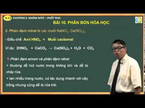 VES Learning – Hóa 11 – Chương 2. Nhóm Nitơ, Phốt pho – Bài 10. Phân bón hóa học và bài tập