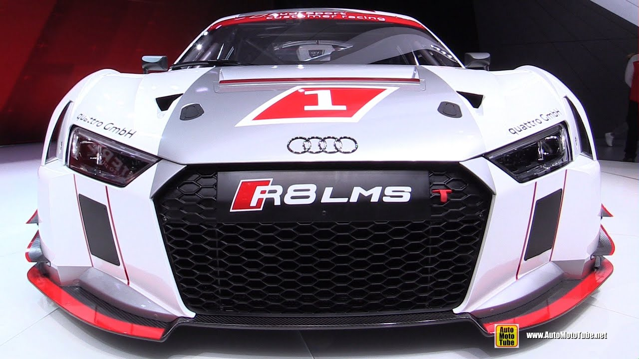 2016 Audi R8 LMS Race Car   Exterior Walkaround   2015 Geneva Motor Show    YouTube