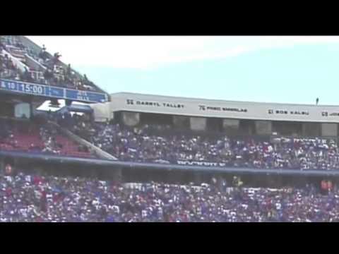 Jim Ross Announcing Fan Falling From Upper Deck At Ralph Wilson Stadium
