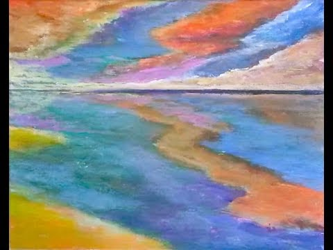 Exuberance – Time-lapse – Acrylic Abstracted Landscape Painting Tutorial