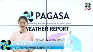 Public Weather Forecast Issued at 5:00 AM April 22, 2017