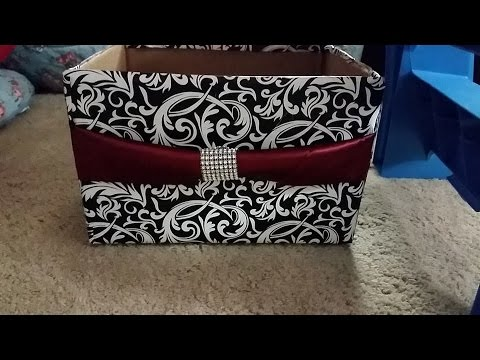 Diy How To Make Storage Box From Diaper Box Organize Decorate Room