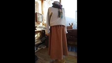 플레어스커트만들기  골덴 스커트만들기      A line flared skirt