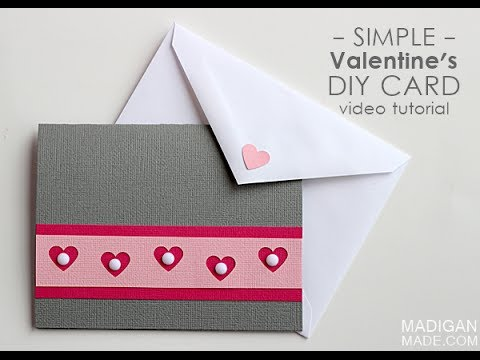 Simple Handmade Valentines Card YouTube – Hand Made Valentine Cards