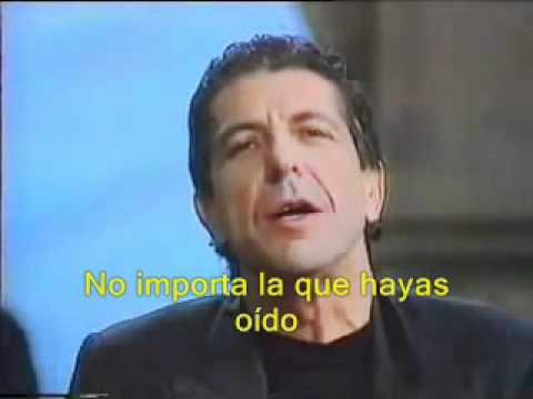 Leonard Cohen - Hallelujah subtitulada en Español