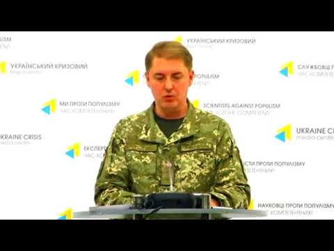 Col. Oleksandr Motuzyanyk, Ministry of Defense of Ukraine spokesperson. UCMC 26.09.2017