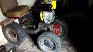 Самодельный минитрактор с дизельного двигателя от мотоблока . Сделай сам минитрактор. №1