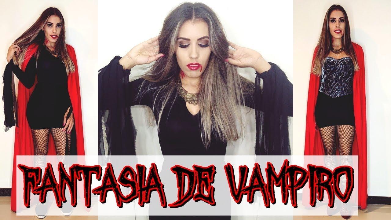 Faça Sua Fantasia Sem Gastar Nada Fantasia Vampiro Para O Carnaval