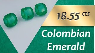 Colombian Emerald. 18.55 Carats Natural Colombian Emerald