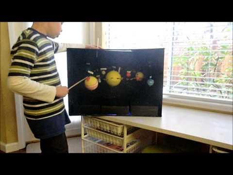 Alex Solar System Project 3rd Grade