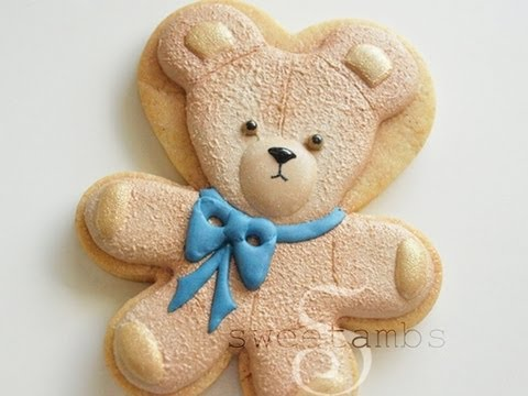 How To Make A Teddy Bear Cookie Using Royal Icing