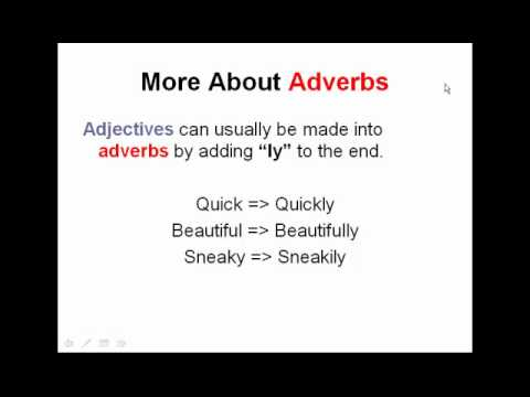 Adverbs & Adjectives Worksheets, Tests, & Lessons | Ereading