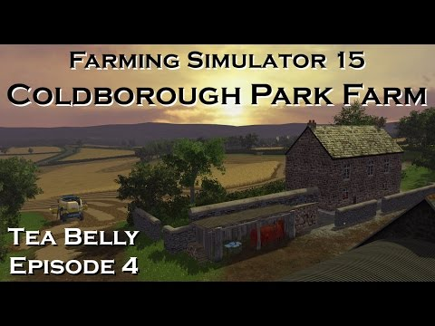#FS15 Lets Play Coldborough Park Farm - Episode 4 (watering the livestock and a bit of harvesting)
