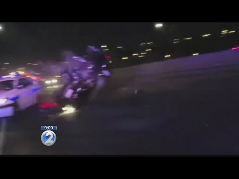 Honolulu police body camera captures H-1 crash on video