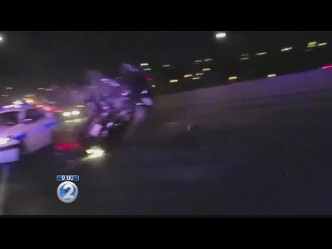 Honolulu police body camera captures H-1 crash on video