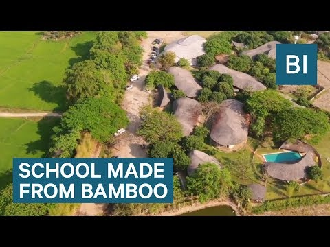 This school in Thailand is made entirely out of bamboo and earth