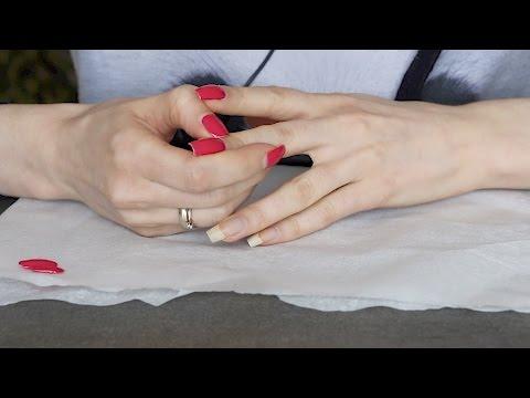 ASMR Whisper Peeling Off My Nail Polish
