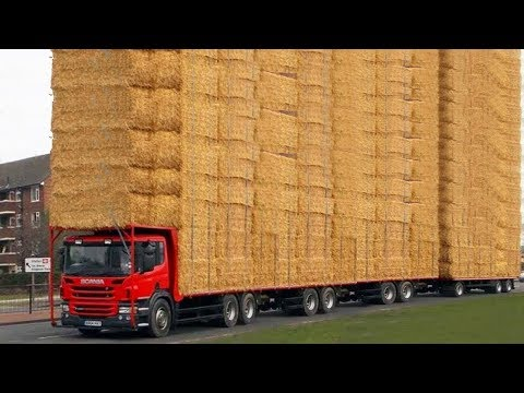 World Amazing Hay Bale Handling Modern Agriculture Equipment Mega Machines Tractor, Harvester, Truck