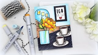 Tea Time Scene Card: When You Don't Like Your Card