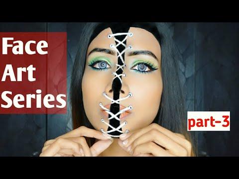 Face Art Series Part-3 Easy Face Art Makeup Tutorials | SANJANA KALANDI