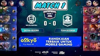 #Paisep Soloz Fanny Mengganas !!! Saiyan Reborn vs Team Bosskur Match 1 MSL Season 2 MLBB