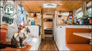 This School Bus Conversion Is Their Affordable Tiny Home