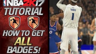 NBA 2K17 -  Ultimate Badge Tutorial - How To Get Them All / FULL BREAKDOWN