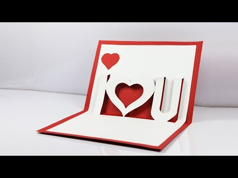 DIY Valentine's Day POP-UP Card: Handmade Greeting Card (very easy)