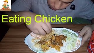 Asmr Eating spicy fried chicken curry with plain rice(eating show with sounds)ASMR-Eating Show